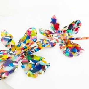 CLOSET REHAB Jewelry - RESTOCKED Paper Lily Earrings in Multicolor